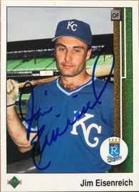 Jim Eisenreich Signed 1989 Upper Deck Baseball Card - Kansas City Royals - PastPros