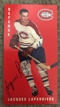 Jacques Laperriere Signed 1994-95 Parkhurst Tall Boys Hockey Card - Montreal Canadiens
