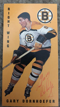 Gary Dornhoefer Signed 1994-95 Parkhurst Tall Boys Hockey Card - Boston Bruins