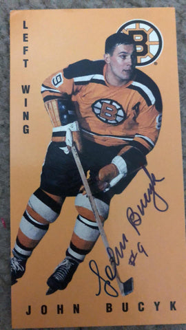 John Bucyk Signed 1994-95 Parkhurst Tall Boys Hockey Card - Boston Bruins - PastPros