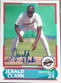Jerald Clark Signed 1990 Score Young Superstars Baseball Card - PastPros