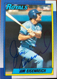 Jim Eisenreich Signed 1990 Topps Baseball Card - Kansas City Royals