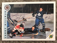 Larry Hillman Signed 1991-92 Ultimate Hockey Card - Toronto Maple Leafs - PastPros