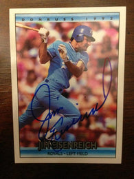 Jim Eisenreich Signed 1992 Donruss Baseball Card - Kansas City Royals