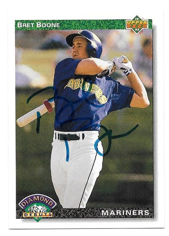 Bret Boone Signed 1992 Upper Deck Baseball Card - Seattle Mariners - PastPros