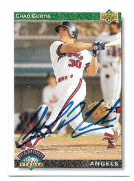 Chad Curtis Signed 1992 Upper Deck Baseball Card - California Angels