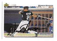 Warren Newson Signed 1992 Upper Deck Baseball Card - Chicago White Sox