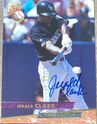 Jerald Clark Signed 1993 Fleer Ultra Baseball Card - Colorado Rockies - PastPros
