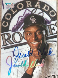 Jerald Clark Signed 1993 Studio Baseball Card - Colorado Rockies - PastPros