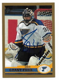 Grant Fuhr Signed 1999-00 Topps Hockey Card - St Louis Blues - PastPros