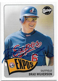 Brad Wilkerson Signed 2003 Upper Deck Vintage Baseball Card - Montreal Expos - PastPros