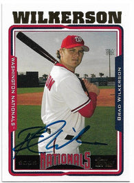 Brad Wilkerson Signed 2005 Topps Baseball Card - Washington Nationals