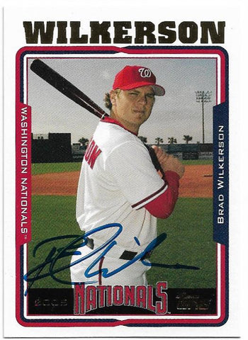 Brad Wilkerson Signed 2005 Topps Baseball Card - Washington Nationals - PastPros