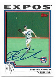 Brad Wilkerson Signed 2004 Topps Baseball Card - Montreal Expos