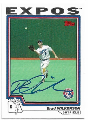 Brad Wilkerson Signed 2004 Topps Baseball Card Montreal Expos