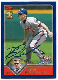 Brad Wilkerson Signed 2003 Topps Baseball Card - Montreal Expos