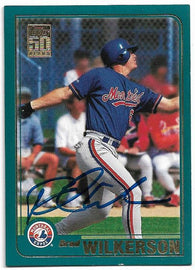 Brad Wilkerson Signed 2001 Topps Baseball Card - Montreal Expos