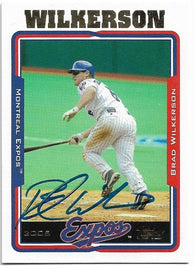 Brad Wilkerson Signed 2005 Topps Baseball Card - Montreal Expos