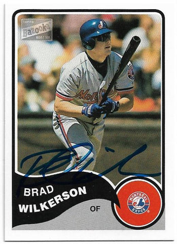 Brad Wilkerson Signed 2003 Topps Bazooka Baseball Card - Montreal Expos