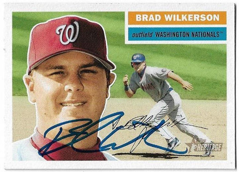 Brad Wilkerson Signed 2005 Topps Heritage Baseball Card - Washington Nationals