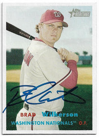Brad Wilkerson Signed 2006 Topps Heritage Baseball Card - Washington Nationals