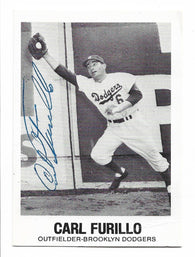 Carl Furillo Signed 1977 Renata Galasso Baseball Card - Brooklyn Dodgers - PastPros
