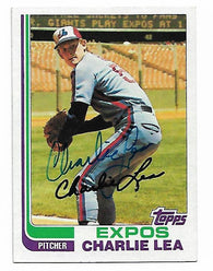 Charlie Lea Signed 1982 Topps Baseball Card - Montreal Expos