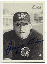 Francisco Cordova Signed 2001 Bowman Heritage Baseball Card - Pittsburgh Pirates
