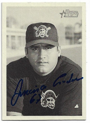 Francisco Cordova Signed 2001 Bowman Heritage Baseball Card - Pittsburgh Pirates - PastPros