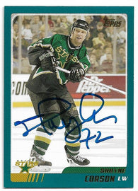 Shayne Corson Signed 2003-04 Topps Hockey Card - Dallas Stars - PastPros