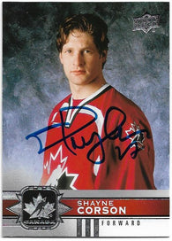 Shayne Corson Signed 2017-18 Upper Deck Canadian Tire Hockey Card - Team Canada - PastPros