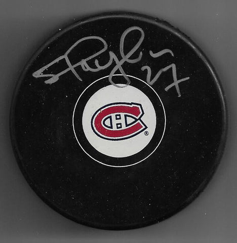Shayne Corson Signed Hockey Puck - Montreal Canadiens
