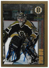 Byron Dafoe Signed 1998-99 O-Pee-Chee Chrome Hockey Card - Boston Bruins