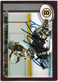 Byron Dafoe Signed 2002-03 Topps Hockey Card - Boston Bruins - PastPros