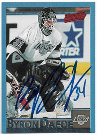 Byron Dafoe Signed 1995-96 Bowman Hockey Card - Los Angeles Kings - PastPros