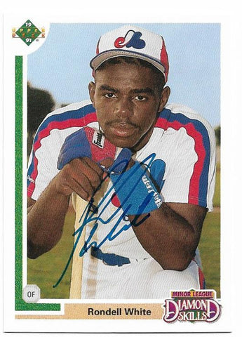 Rondell White Signed 1991 Upper Deck Baseball Card - Montreal Expos