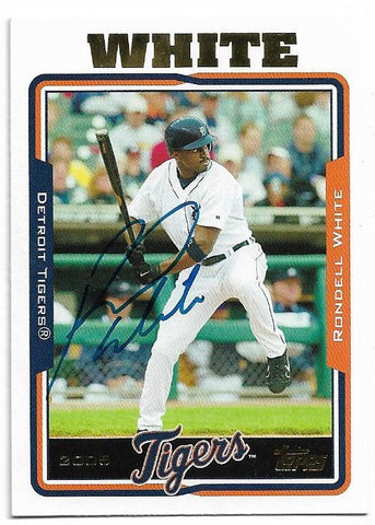 Rondell White Signed 2005 Topps Baseball Card - Detroit Tigers