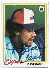 Dave Cash Signed 1978 Topps Baseball Card - Montreal Expos