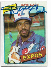 Dave Cash Signed 1980 Topps Baseball Card - Montreal Expos