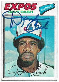 Dave Cash Signed 1977 Topps Baseball Card - Montreal Expos