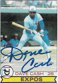 Dave Cash Signed 1979 Topps Baseball Card - Montreal Expos