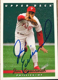 Jim Eisenreich Signed 1993 Upper Deck Baseball Card - Philadelphia Phillies - PastPros