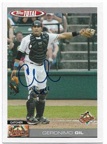 Geronimo Gil Signed 2004 Topps Total Baseball Card - Baltimore Orioles