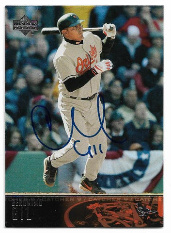 Geronimo Gil Signed 2004 Upper Deck Baseball Card - Baltimore Orioles