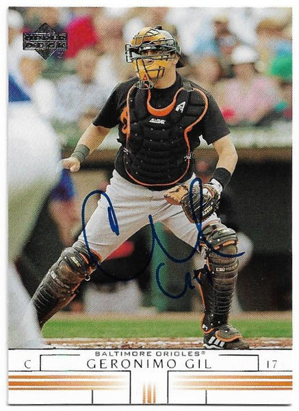 Geronimo Gil Signed 2002 Upper Deck Baseball Card - Baltimore Orioles
