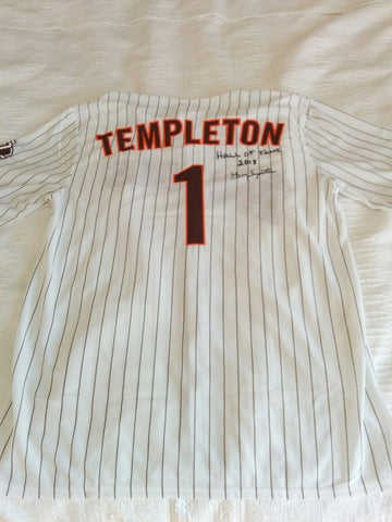 Gerry Templeton Signed Replica Padres Hall of Fame Jersey