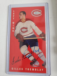 Gilles Tremblay Signed 1994-95 Parkhurst Tall Boys Hockey Card - Montreal Canadiens