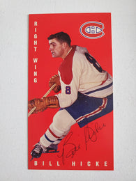 Bill Hicke Signed 1994-95 Parkhurst Tall Boys Hockey Card - Montreal Canadiens