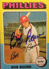 Bob Boone Signed 1975 Topps Baseball Card - Philadelphia Phillies - PastPros
