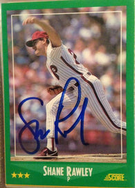 Shane Rawley Signed 1988 Score Baseball Card - Philadelphia Phillies - PastPros